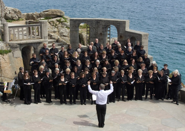 Addison Singers performing at the Minack Theatre